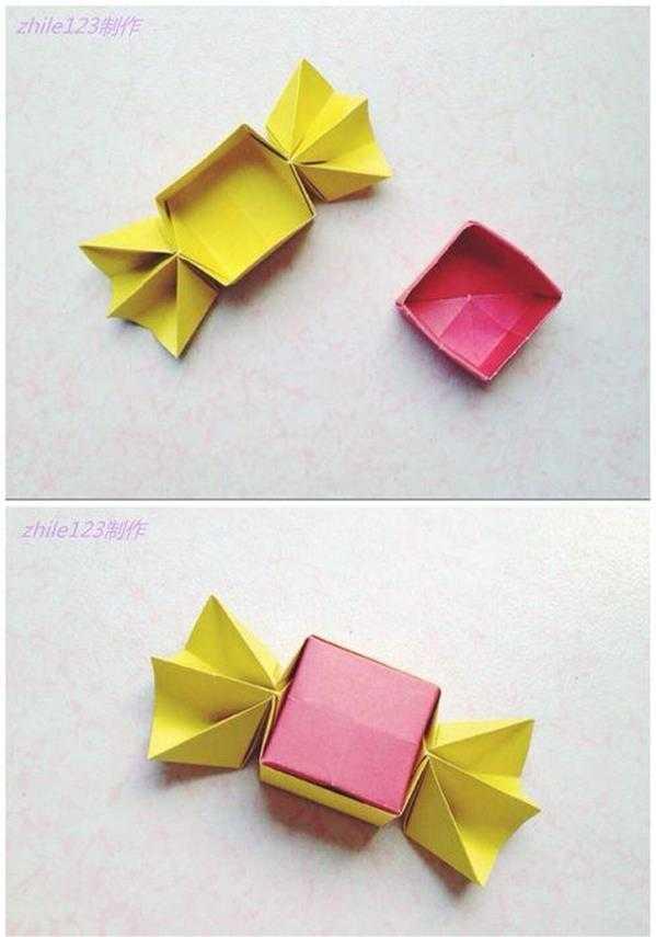 制作糖果盒 手工折纸制作糖果礼盒方法图解教程