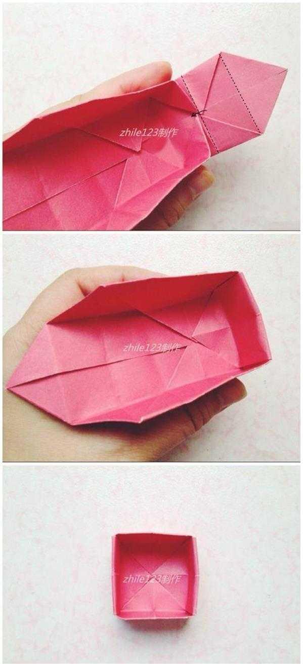 制作糖果盒手工折纸制作糖果礼盒方法图解教程